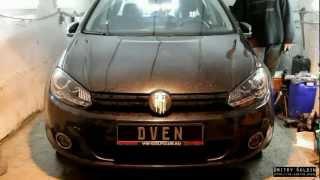 getlinkyoutube.com-Dectane Headlights with HID MTF Light 5000K на VW Golf VI