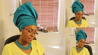 getlinkyoutube.com-How to tie gele:  Updo gele
