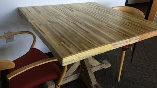 getlinkyoutube.com-Office Meeting Table From Pallets - Pallet Up Cycle Challenge 2015