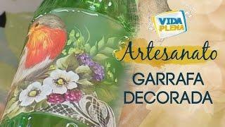 getlinkyoutube.com-Garrafa Decorada | Artesanato com Reciclagem - DIY