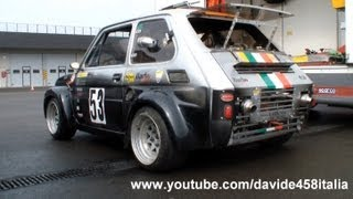 PURE SOUND! FIAT 126 with Yamaha R1 engine: start up + track