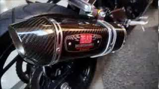 getlinkyoutube.com-YOSHIMURA R77 Full System for Ninja 300 / 250 FI