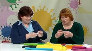 Ustvarjalne iskrice 90 Rožeiz krep papirja
