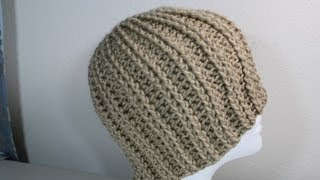 getlinkyoutube.com-How to Crochet rib hat (step by step video) - Yolanda Soto Lopez