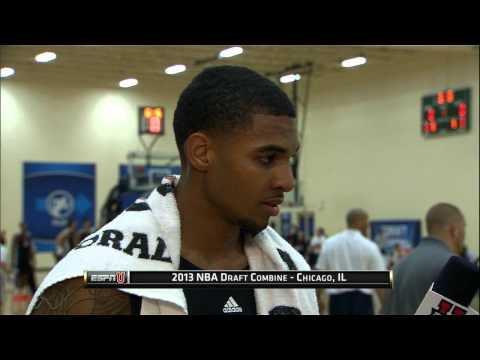 Glen Rice Jr. at the NBA Draft Combine 2013