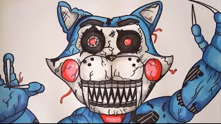 getlinkyoutube.com-How To Draw Nightmare Candy Cat From FNAC FNAF Step By Step (My Version)