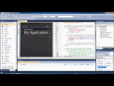 Windows Phone 7 Development - Tutorial 1 - New App