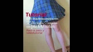 getlinkyoutube.com-Cómo hacer una falda circular media campana