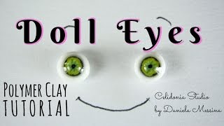 getlinkyoutube.com-Lifelike ooak Doll Eyes 1/12 and other scales - Polymer Clay Tutorial