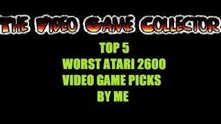 getlinkyoutube.com-MY TOP 5 WORST ATARI 2600 VIDEO GAME CARTRIDGE REVIEW PICKS FIVE GAMES