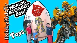 getlinkyoutube.com-Worlds First Biggest Transformer Surprise Egg Blind Box Funko Pop by HobbyKidsTV