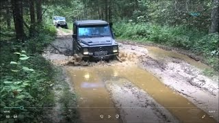 Gear Club Mercedes G class on Tractor tyres Offroad Test