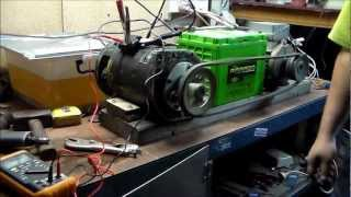 getlinkyoutube.com-BIG DC Motor, Attempt to run as Generator!