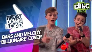 getlinkyoutube.com-Bars and Melody cover 'Billionaire' with lyrics on CBBC Friday Download