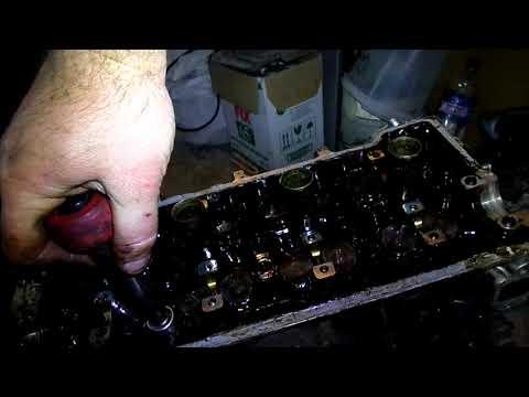 58 Снятие головки блока цилиндров двигателя Джили МК копия двгателя TOYOT A4 FE