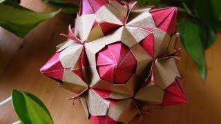 getlinkyoutube.com-Origami ♥ Paloma ♥ Kusudama