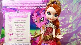 getlinkyoutube.com-Ever After High | Holly O' Hair Dragon Games | Doll Review