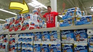 getlinkyoutube.com-Triple Decker Toilet Paper Fort!