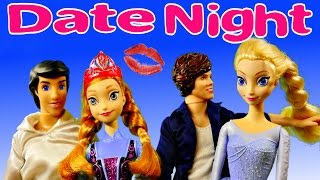 Frozen Movie Night Prince Eric and Anna Elsa Harry Styles One Direction Barbie Doll Date