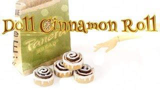 getlinkyoutube.com-DIY - How to Make:  Doll Cinnamon Rolls - PANERA BREAD - Handmade - Doll - Crafts