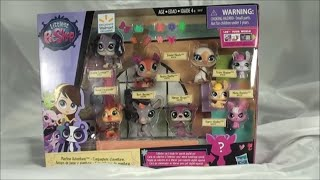 getlinkyoutube.com-Littlest Pet Shop 9 PET SET PLAYTIME ADVENTURES walmart exclusive with TALIA SPOTSON GIRAFFE