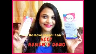 Remove Facial Hair & Body Hair INSTANTLY at Home | VEET Wax Strips Review & Demo| SuperBeautyDezires