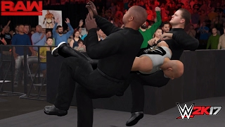 getlinkyoutube.com-WWE 2K17 Custom Scenario: Goldberg attacks Kevin Owens! (A DOUBLE SPEAR!!) RAW 2/20/2017 (PC Mods)