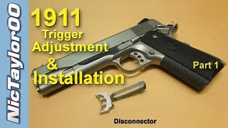 getlinkyoutube.com-1911 Pistol Trigger Adjustment for Overtravel and Pretravel - PART 1