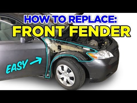 How To: Remove & Replace a Front Fender - 07-13 Toyota Camry