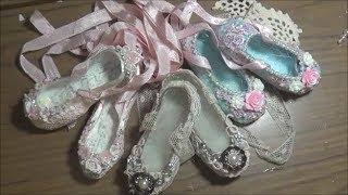 getlinkyoutube.com-Shabby Chic Ballet Slippers + Tutorial