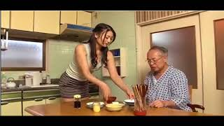 Japan Movie,  grandfather and grand-daughter width=