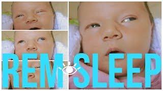 BABY REM SLEEP 👁👁 Strange Rapid Eye Movements While Sleeping 😱