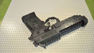 getlinkyoutube.com-Lego Brick Gun Beretta 92fs Stop Motion