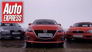 getlinkyoutube.com-Mazda 3 vs Audi A3 & BMW 1 Series group test