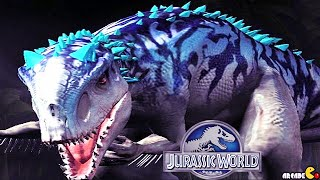 getlinkyoutube.com-Jurassic World The Game - Diplocaulus Vs The Indominus Rex Victory!