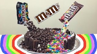 getlinkyoutube.com-Bolo Cascata de M&M (M&M Malteser Cake / Gravity Defying Cake) + Meu Aniversário