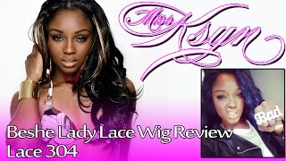 getlinkyoutube.com-Beshe Lady Lace Wig Review: Lace 304