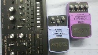 getlinkyoutube.com-Monotribe + overdrive/distortion - Behringer Pedal test BO100 + OD100 + Volca Keys