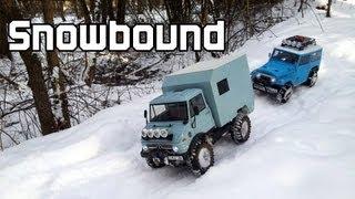 getlinkyoutube.com-RC-Films: Tamiya CC-01 Unimog and Toyota Land Cruiser - Snowbound