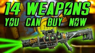 getlinkyoutube.com-Fallout 4 - ALL Unique Weapons You Can Buy RIGHT NOW!