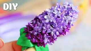 getlinkyoutube.com-Как сделать Сирень из Лент / Lilac of ribbons Tutorial  ✿ NataliDoma