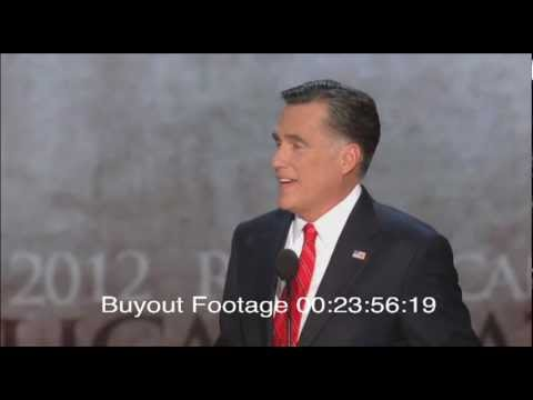 Stock Footage Mitt Romney Speech 2012 Republican National Convention Tampa Florida