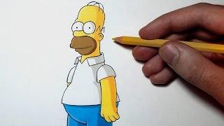 getlinkyoutube.com-Comment dessiner Homer Simpson [Tutoriel]