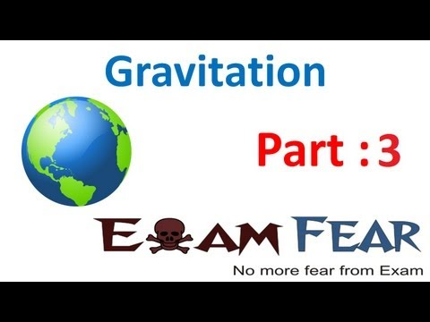 Physics Gravitation Part 3 (Acceleration due to gravity) CBSE class 11 XI