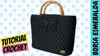 "getlinkyoutube.com-Tutorial borsa uncinetto ""Esmeralda"" | Punto spiga | How to make a crochet bag || Katy Handmade"