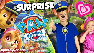 getlinkyoutube.com-GIANT PAW PATROL SURPRISE Stuffed with NEW Paw Patrol Toys + Paw Patrol Bubbles by Epic Toy Channel