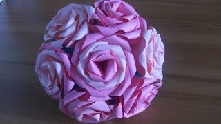 getlinkyoutube.com-Оригами Роза Из Бумаги Простые Цветы Своими Руками. Origami Rose