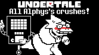 Undertale: All of Alphys's crushes