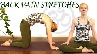 getlinkyoutube.com-Easy Stretches for Back Pain Relief, Beginners Yoga Exercises for Relaxation & Stress