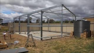getlinkyoutube.com-Timelapse shed construction